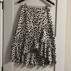 LUCY PARIS - snow leopard skirt - small